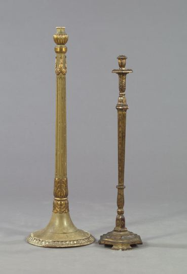 Victorian Polychrome Floor Lamp,  late 19th