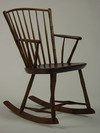 ROCKING CHAIR - 19th C Windsor rocking arm