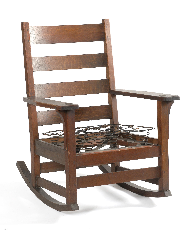 Fabulous Price Guide For L J G Stickley Mission Oak Rocking Creativecarmelina Interior Chair Design Creativecarmelinacom