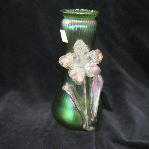Price Guide For Loetz Art Glass Vaseiridescent Applied