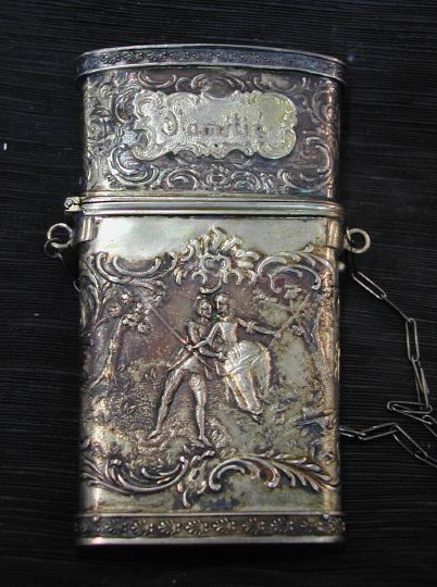 German .800-Standard Silver-Gilt Etui,  first