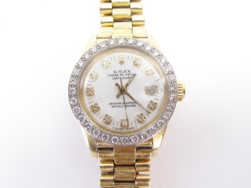 A lady's 18K yellow gold Rolex President