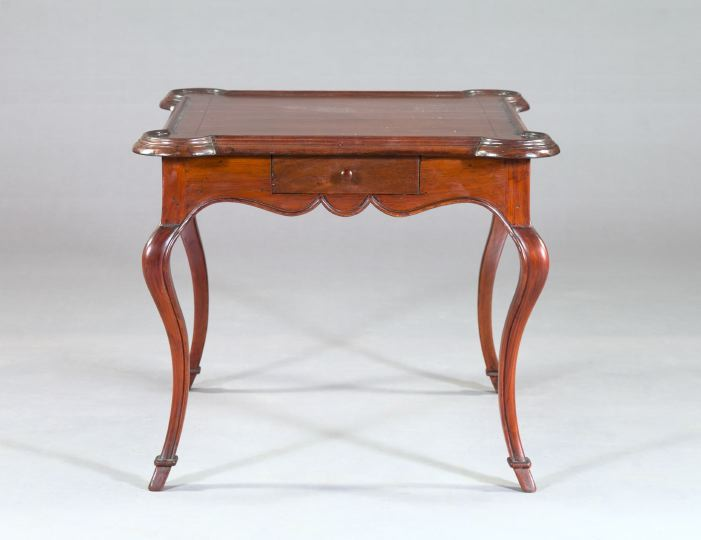 French Provincial-Style Mahogany Games Table,