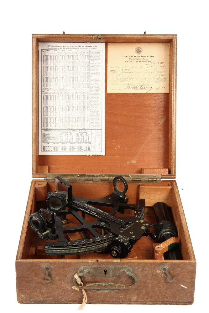 WWII SEXTANT - US Navy Mark II Sextant by