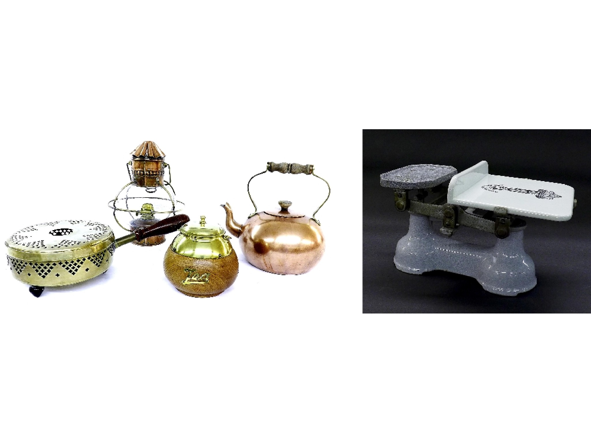 Mixed collection of metalware to include