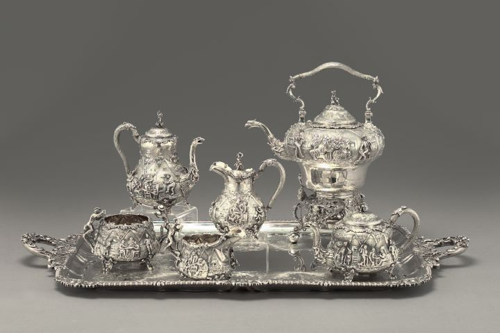 Magnificent Victorian Six-Piece Sterling