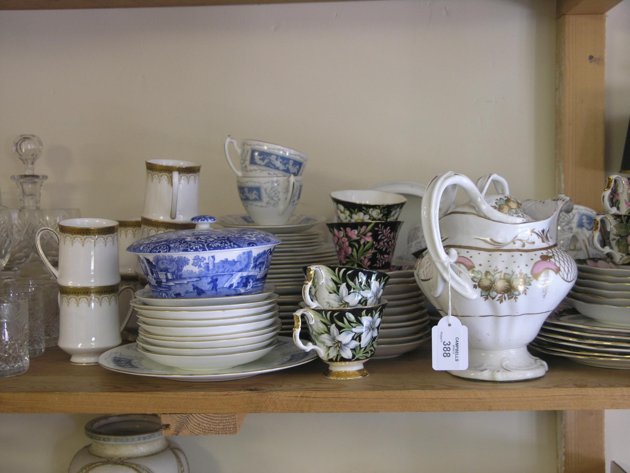 A Coalport bone china part dinner service,