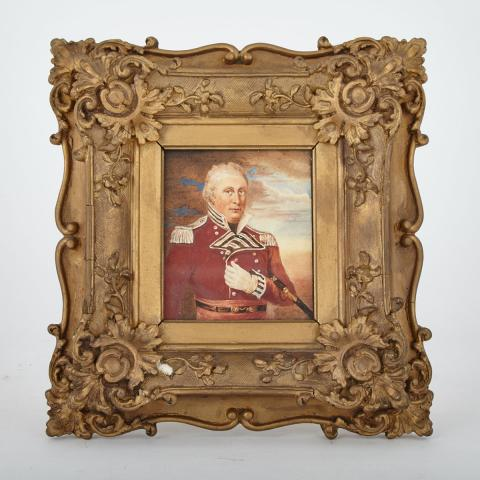 English School Portrait Miniature of Sir