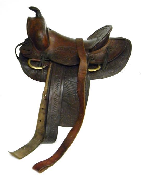 Price guide for J C  Higgins Vintage Western saddle #9512,