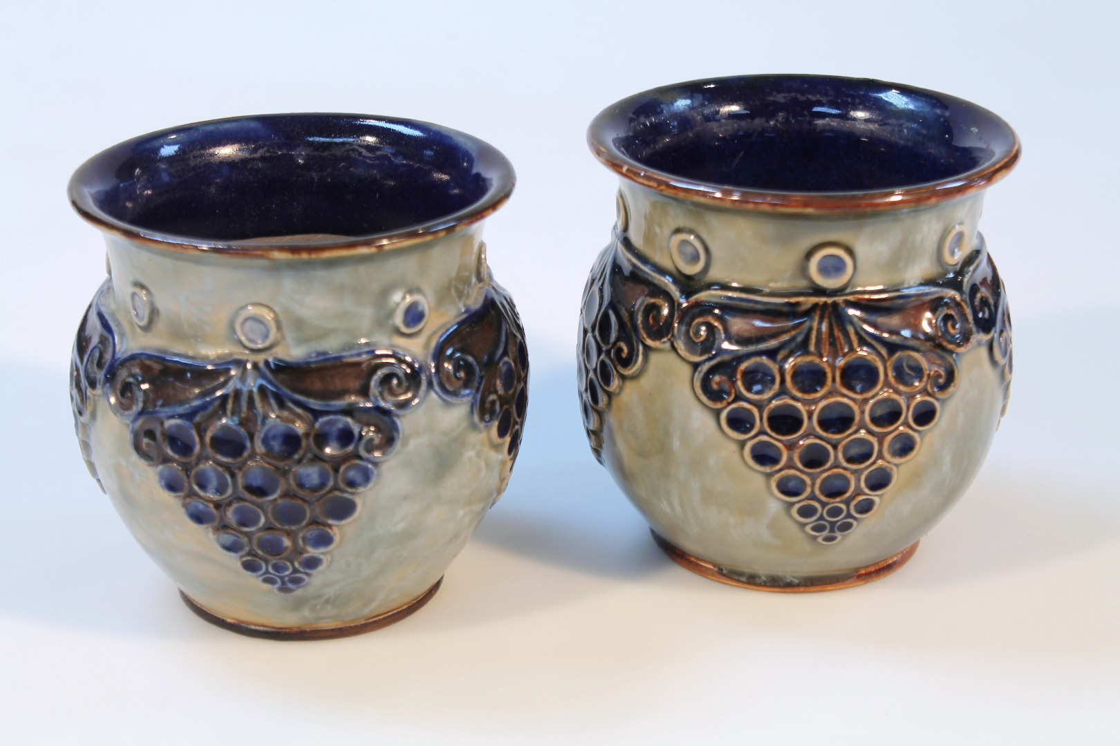A pair of early 20thC Royal Doulton stoneware