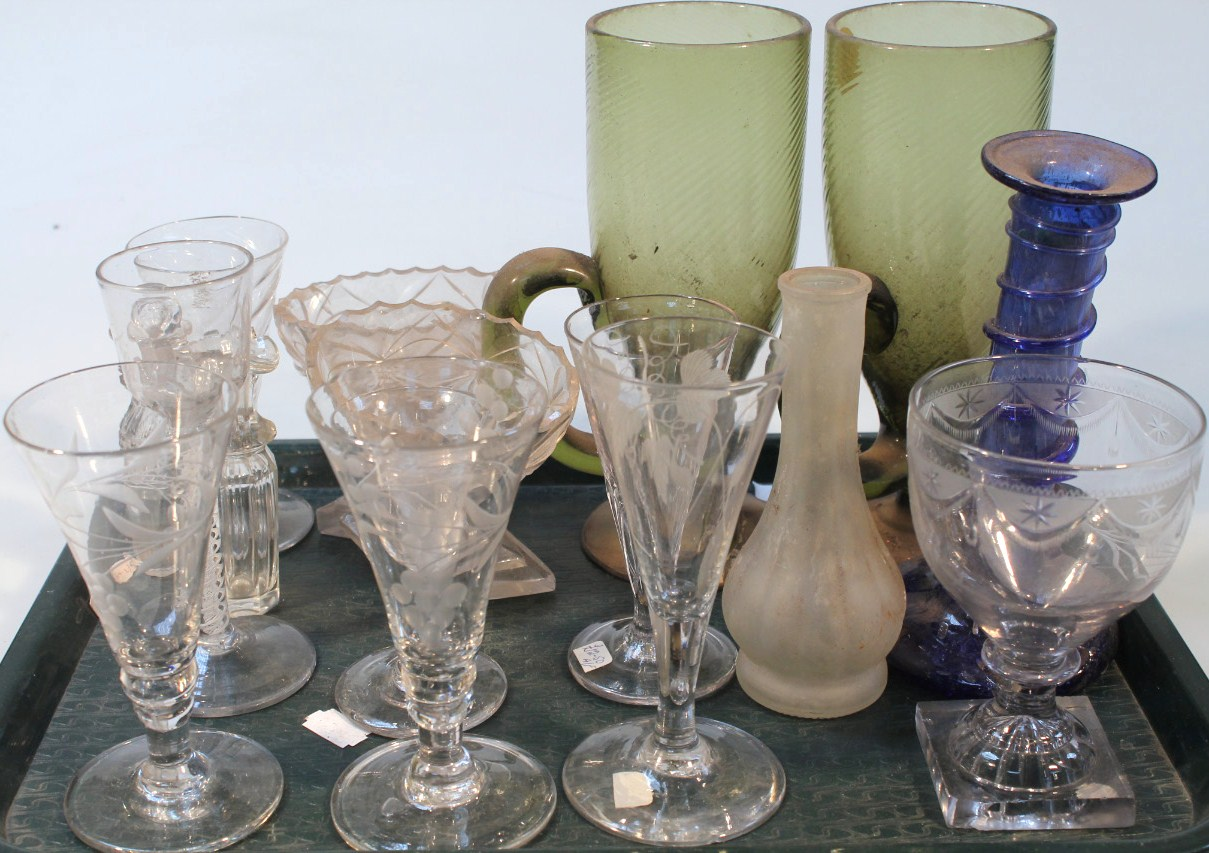Various 18thC and later drinking glasses,