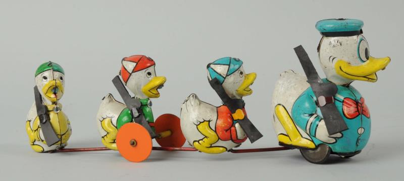 Marx Donald Duck & Nephews Wind-up Toy. This