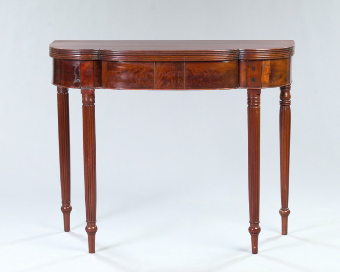 American Sheraton Mahogany Games Table,