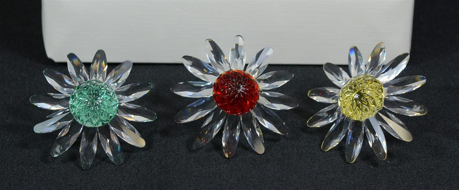 3 Swarovski lead crystal items including