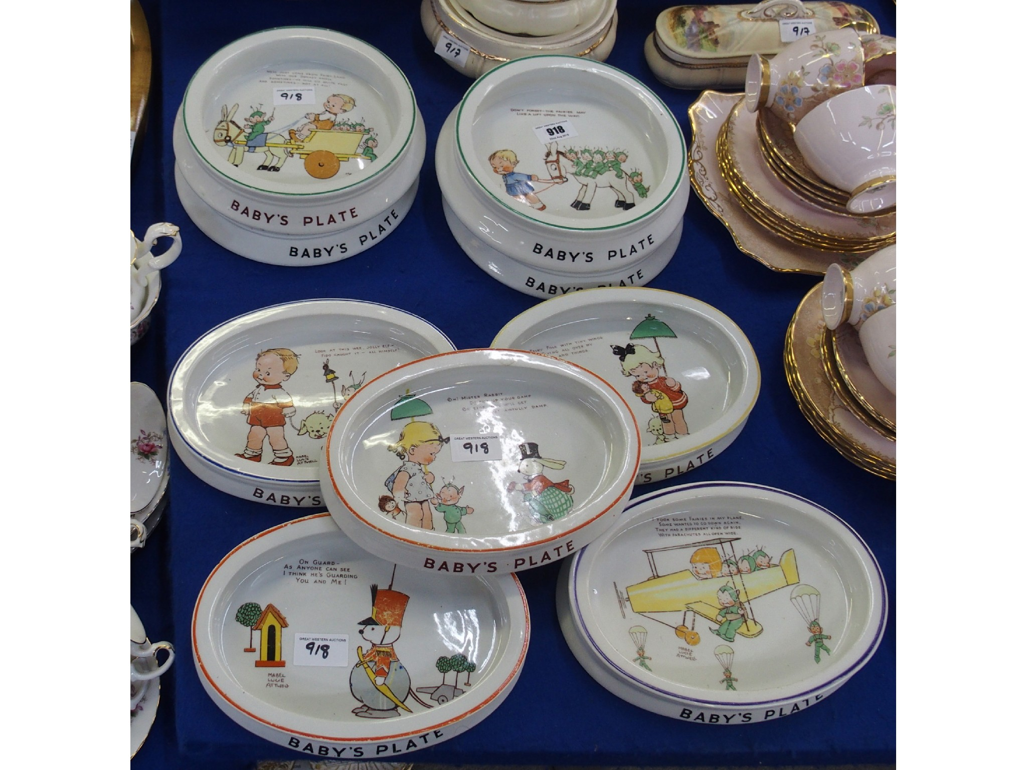 Nine Shelley Mabel Lucie Atwell nursery ware