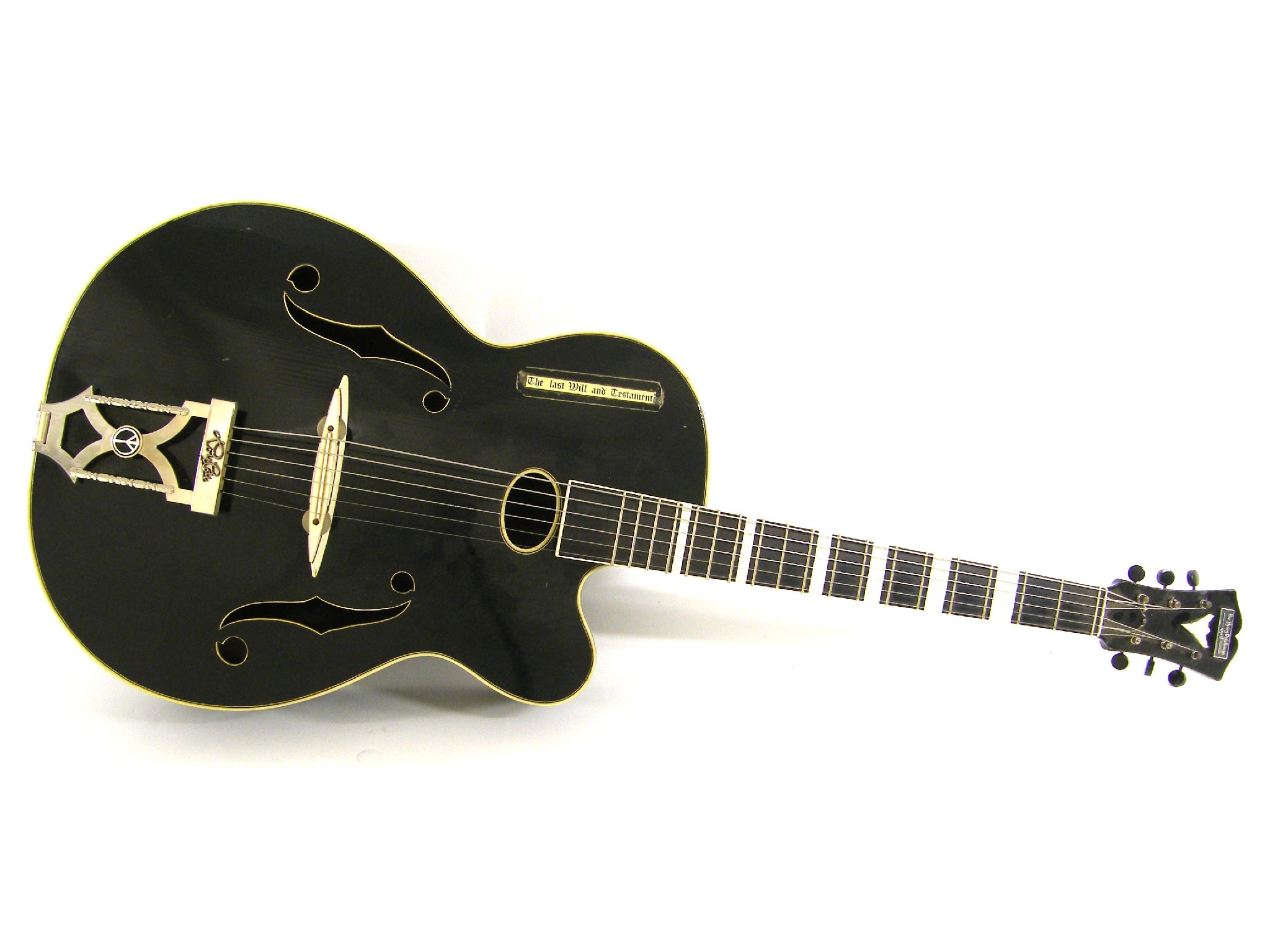 Price guide for Glazbala acoustic archtop guitar, made in