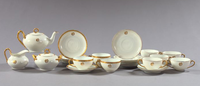Twenty-Two-Piece Collection of Porcelain,