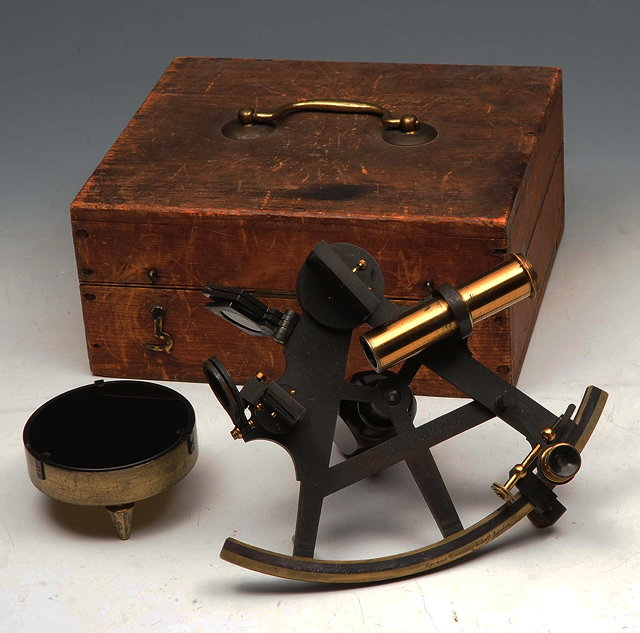 A SEXTANT by Spencer, Browning & Rust, London