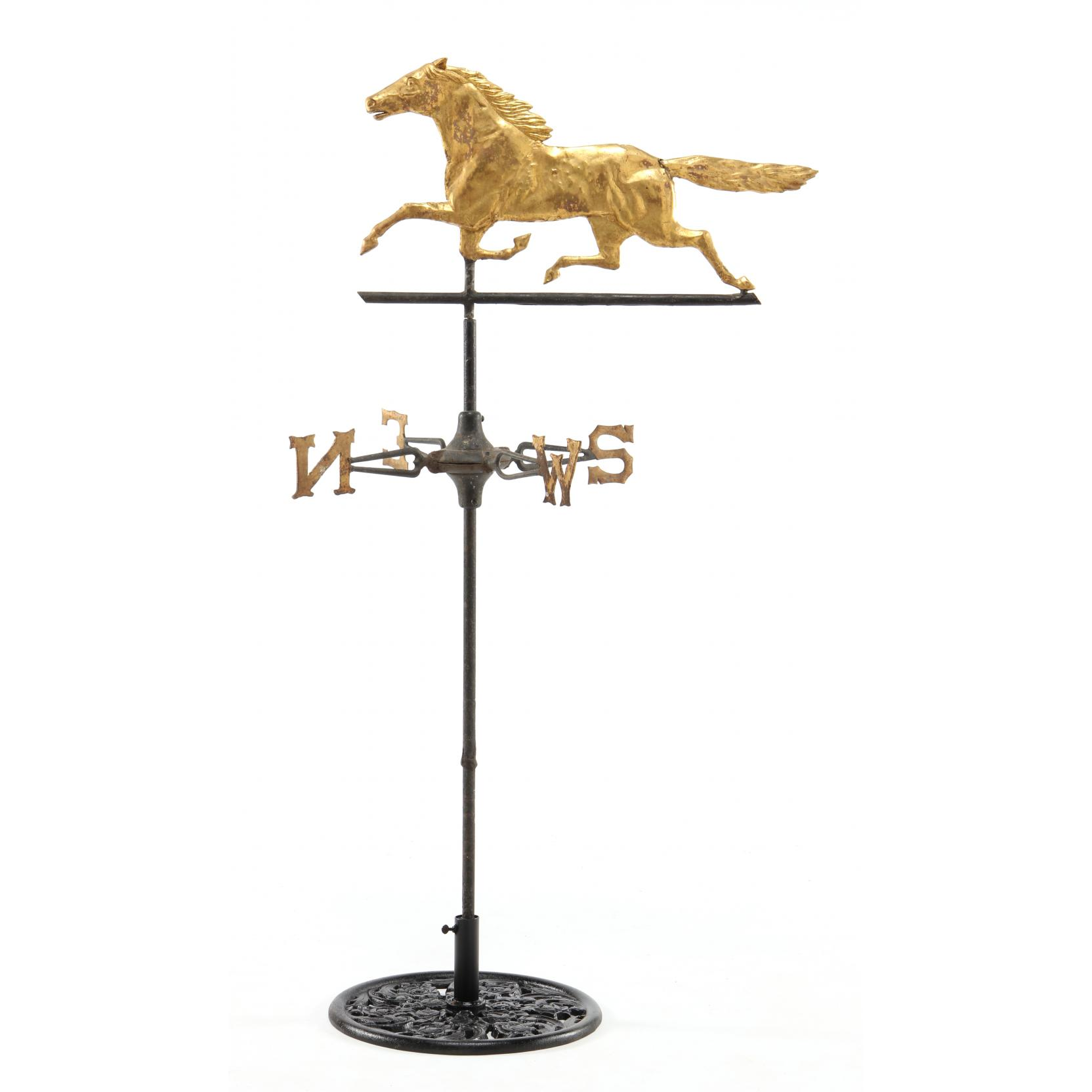 Gilt Running Horse American Weather Vane late