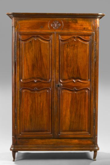 French Provincial Walnut Armoire,  late 18th