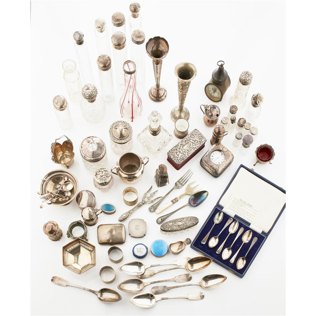 A collection of silver  to include various