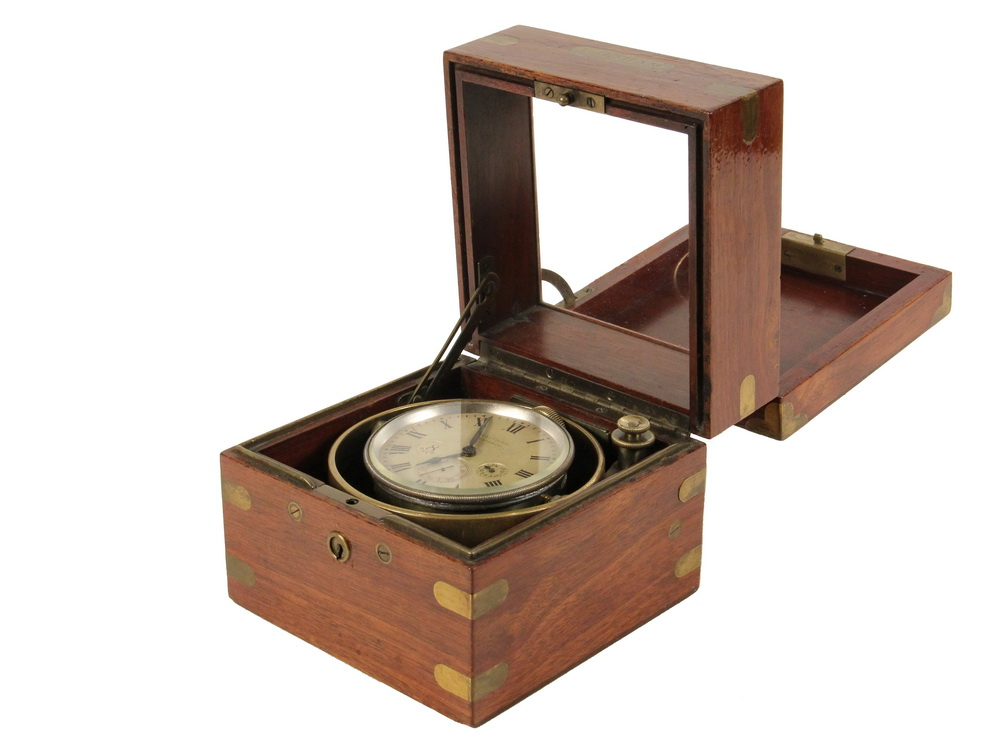 BOXED MARINE CHRONOMETER - Small Waltham