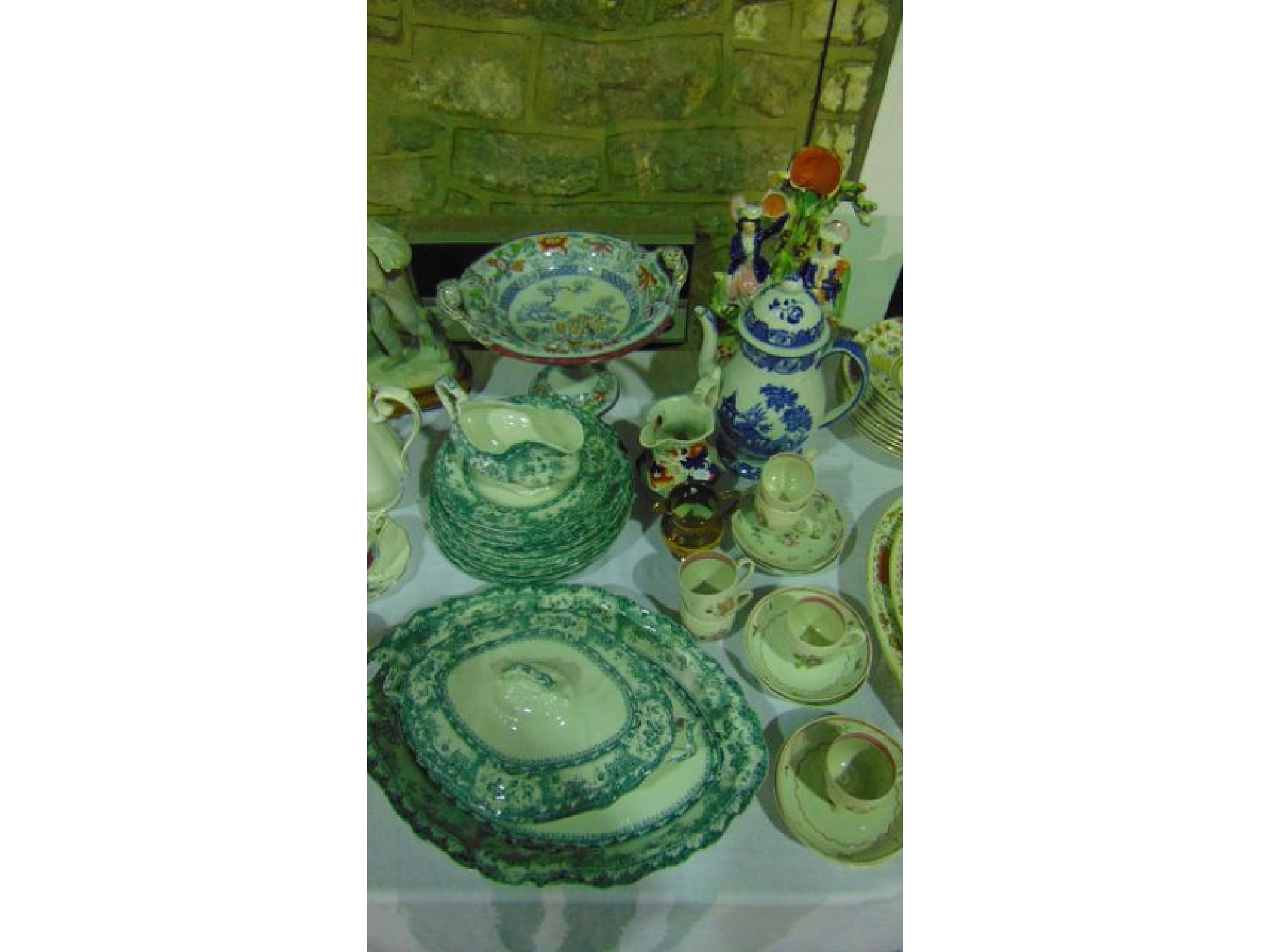A collection of 19th century ceramics including