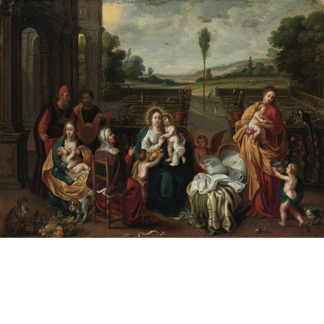 Circle of Frans Francken The Holy Family