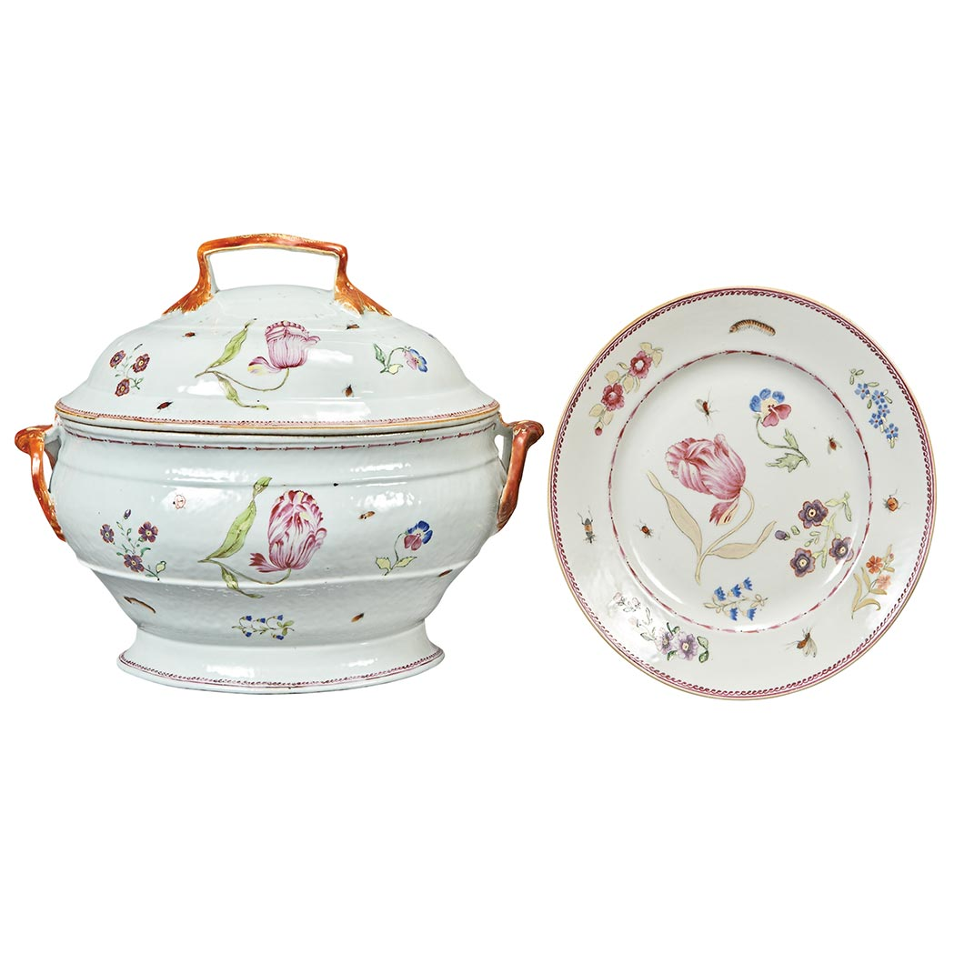 Chinese Export Famille Rose Porcelain Part