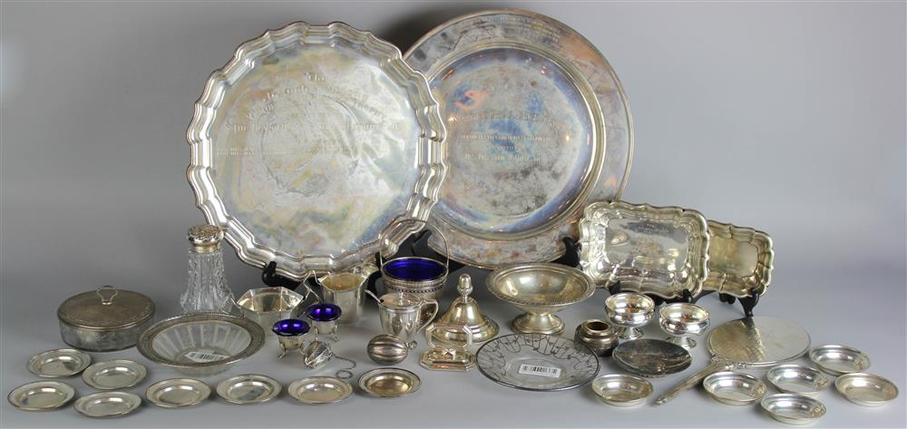 GROUP OF VARIOUS SILVER AND SILVER-MOUNTED
