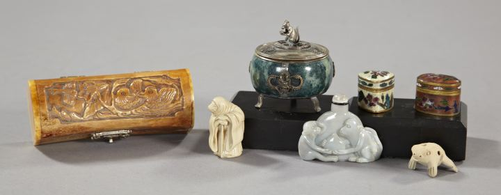Seven-Piece Collection of Oriental Items,