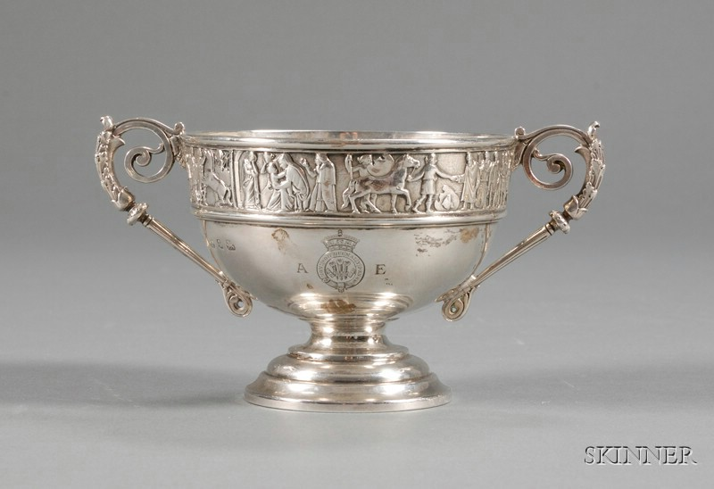 Small Victorian Silver Royal Presentation