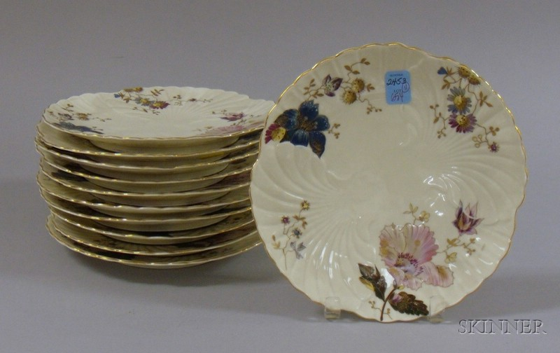 Set of Eleven C. & E. Carstons Weimar Enamel