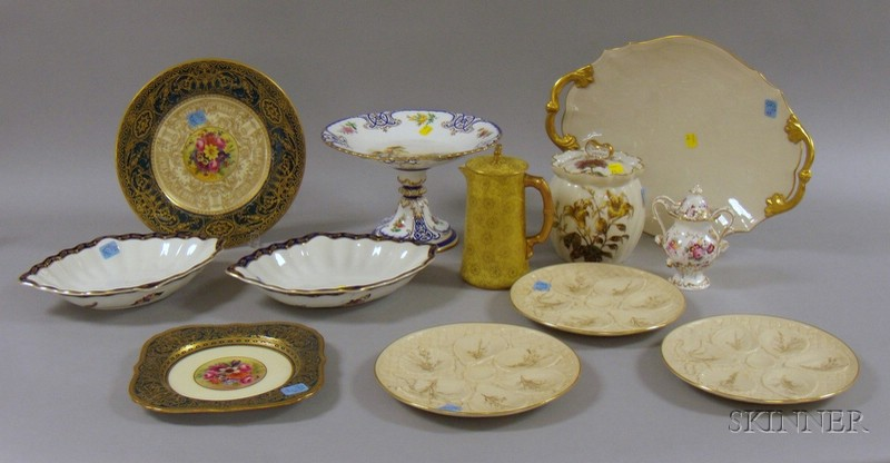 Twelve Assorted Decorated Mostly Porcelain