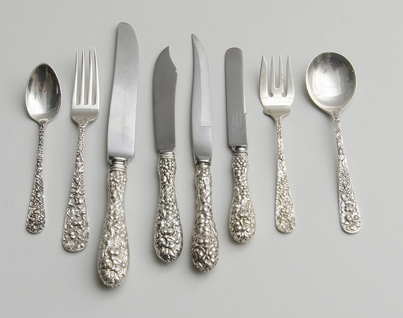 STEIFF SILVER TWO HUNDRED AND TWELVE-PIECE