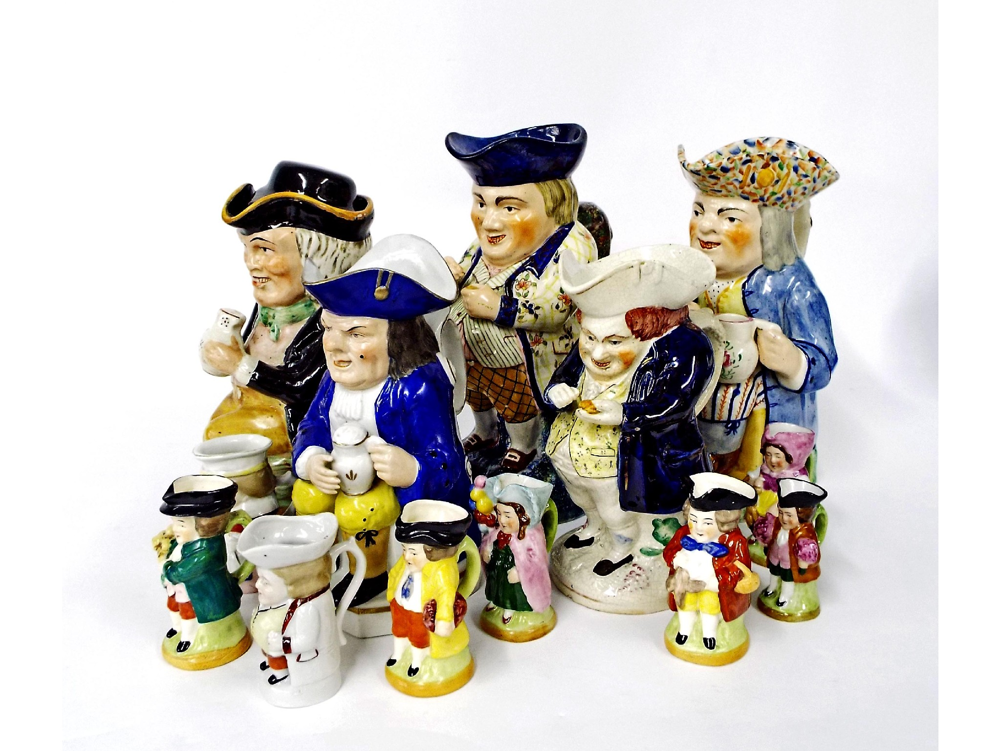 Collection of thirteen various ceramic Toby