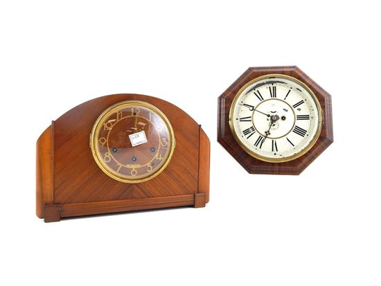CLOCKS, two Connecticut manufactured pieces: