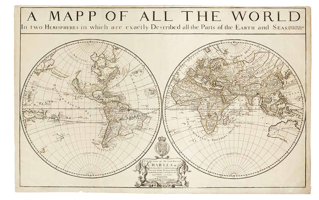 BERRY, WILLIAM. A Mapp of All the World in