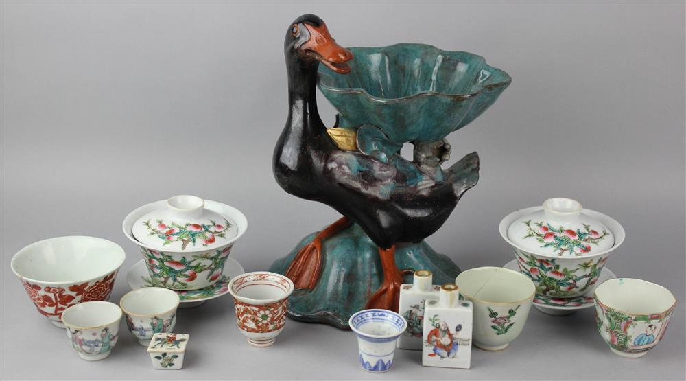 COLLECTION OF SMALL CHINESE PORCELAIN ITEMS,