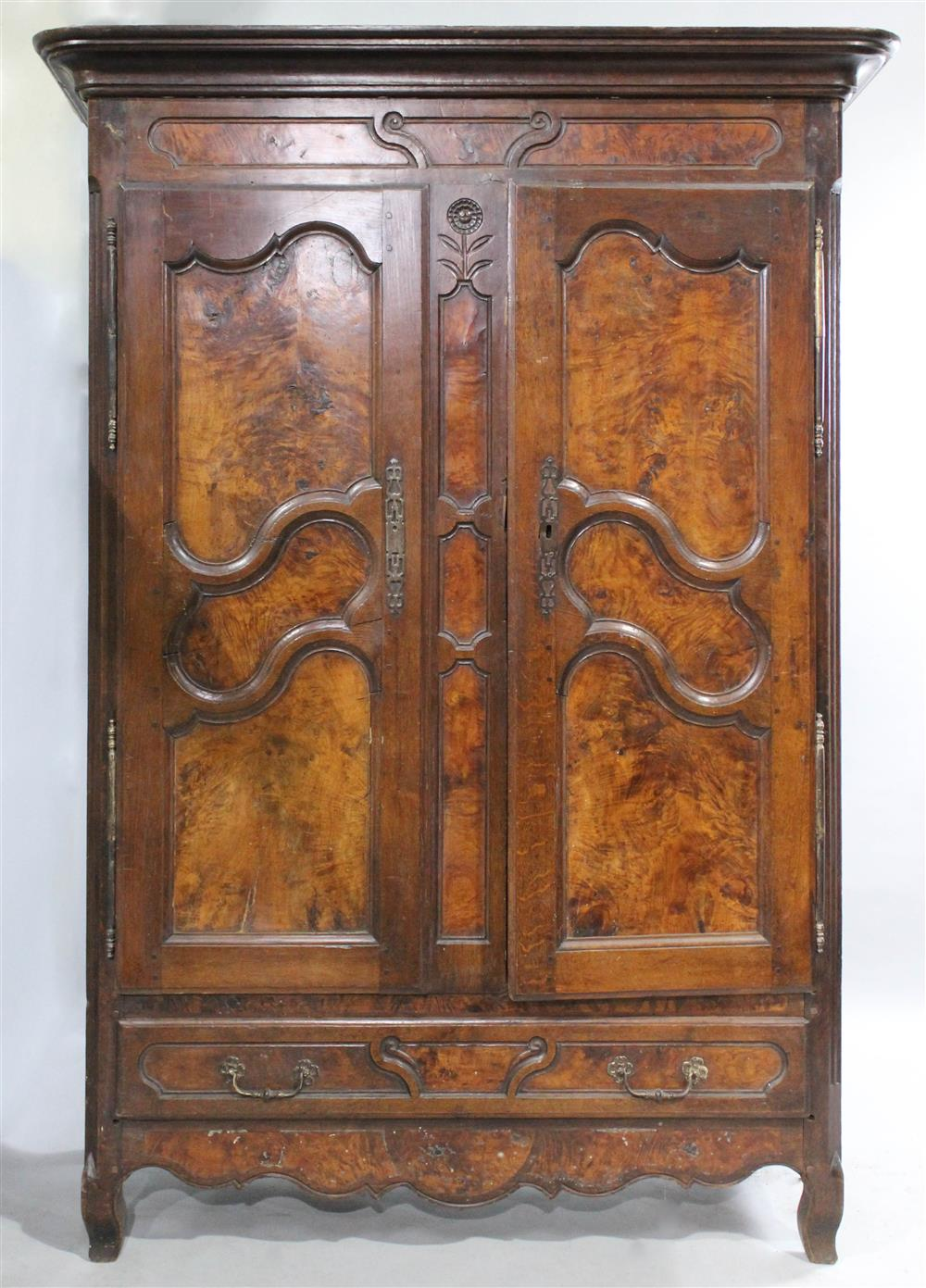 FRENCH PROVINCIAL 18TH CENTURY OAK AND WALNUT