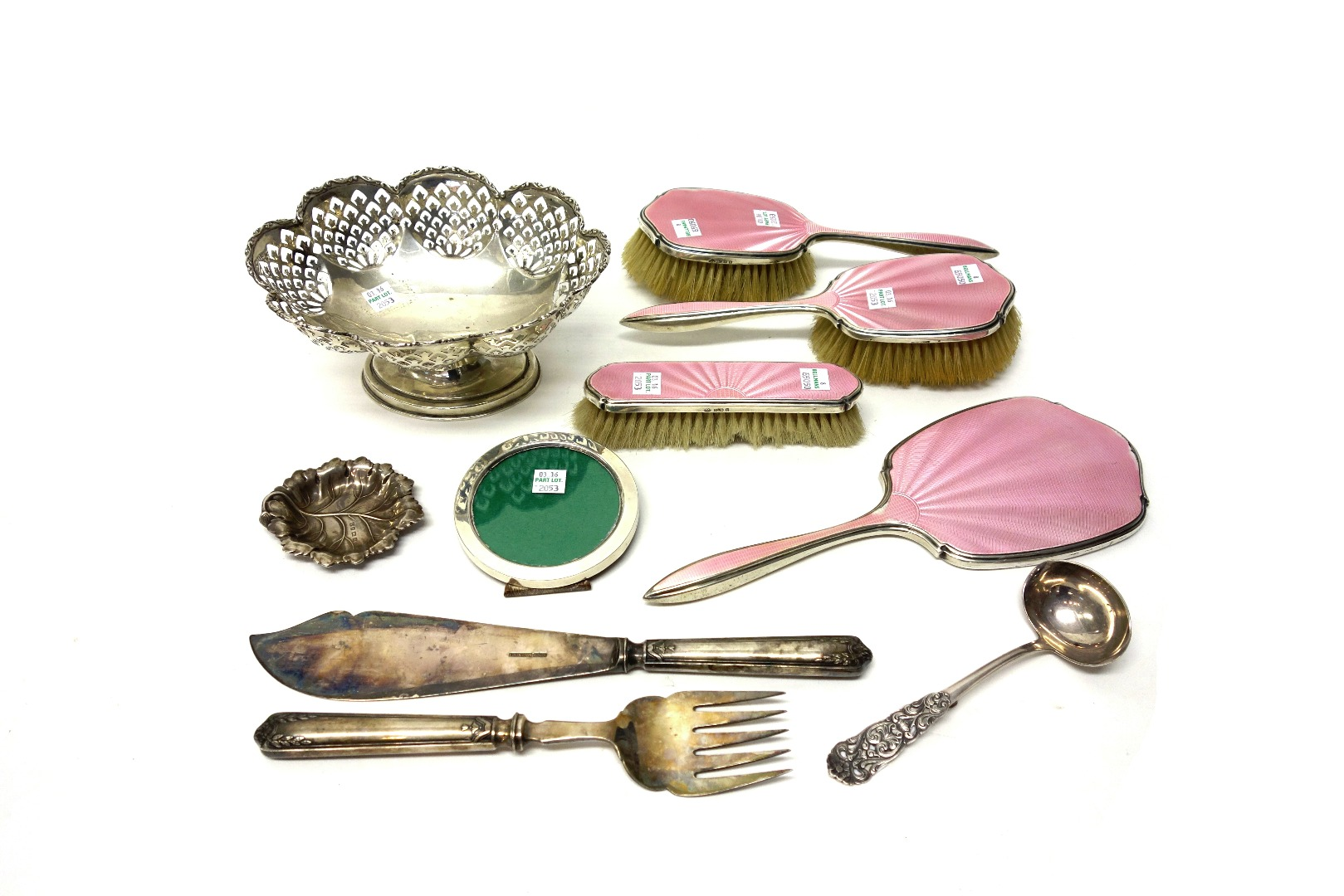Silver and silver mounted wares, comprising;