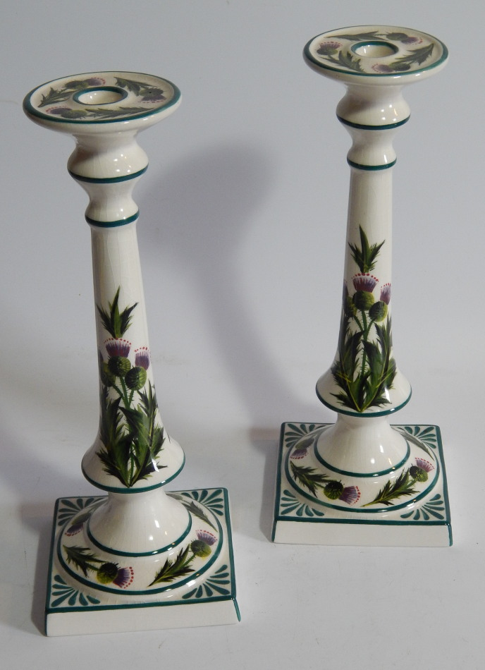 A pair of 20thC Griselda Hill pottery Wemyss