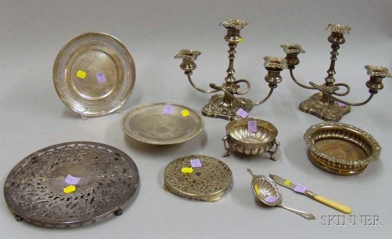 Group of Silver and Silver Plated Serving