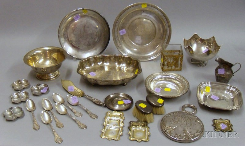 Approximately Thirty-three Sterling and Silver