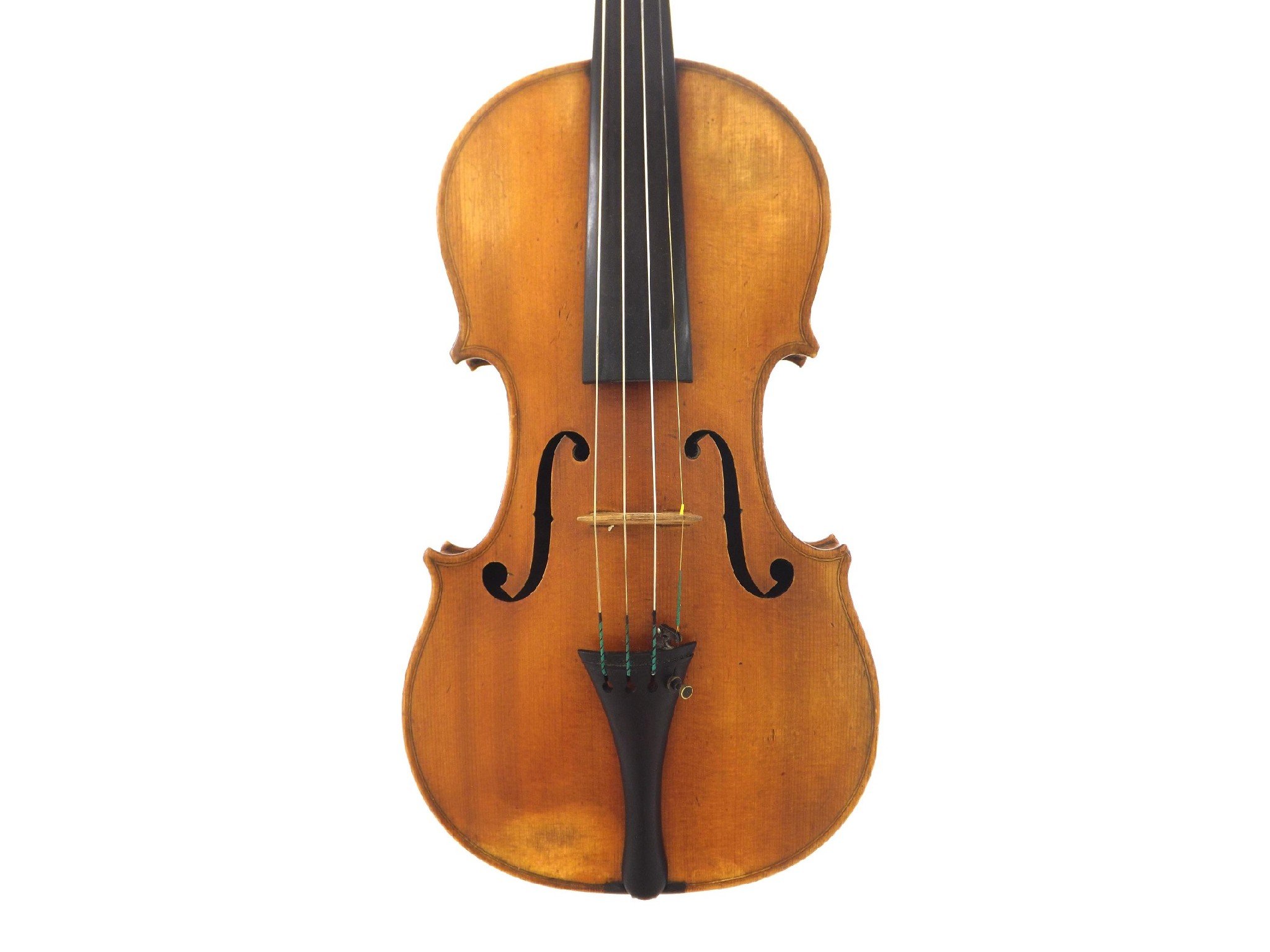 English violin by and labelled Made by G.A.