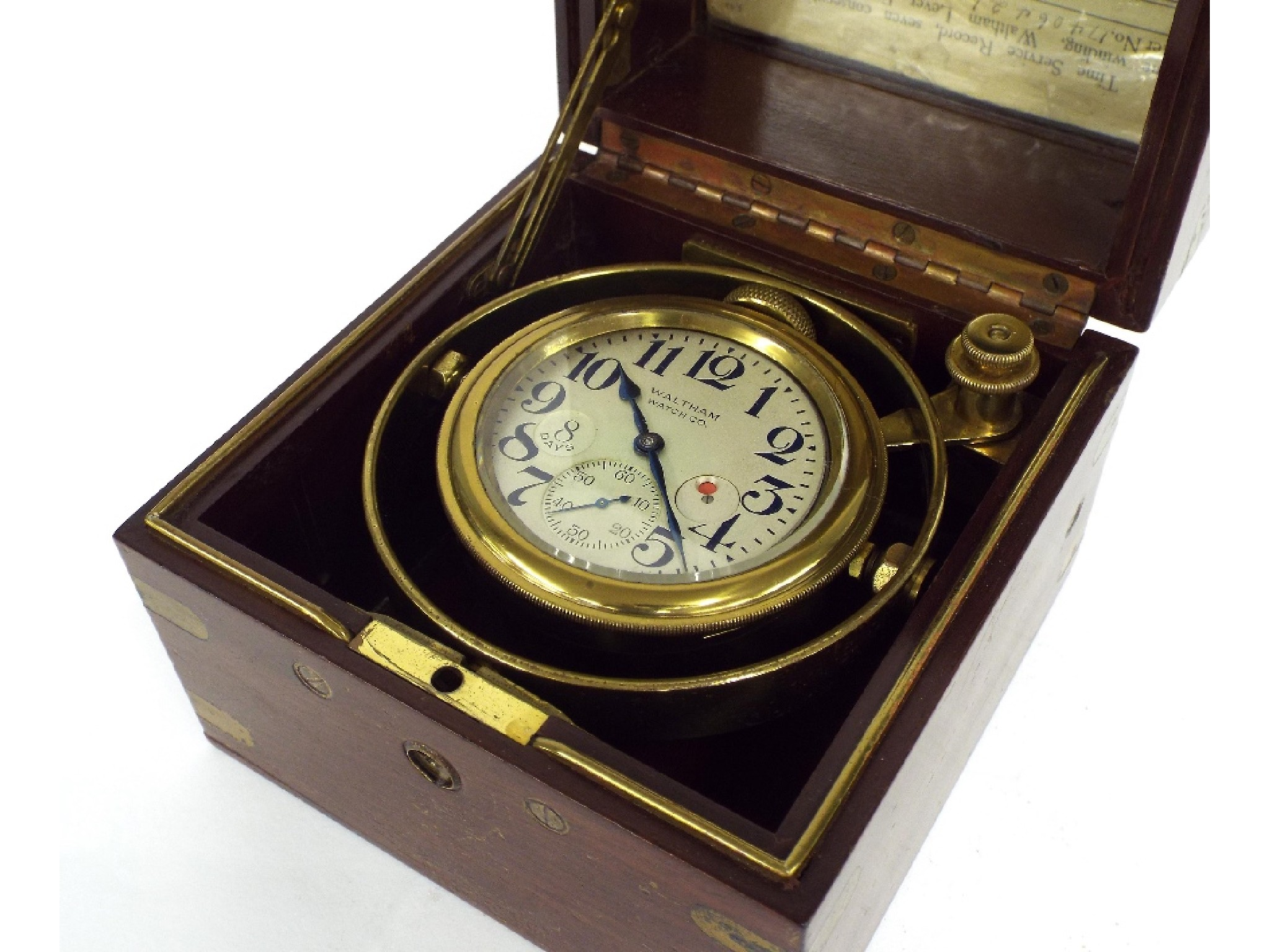 American eight day small marine chronometer
