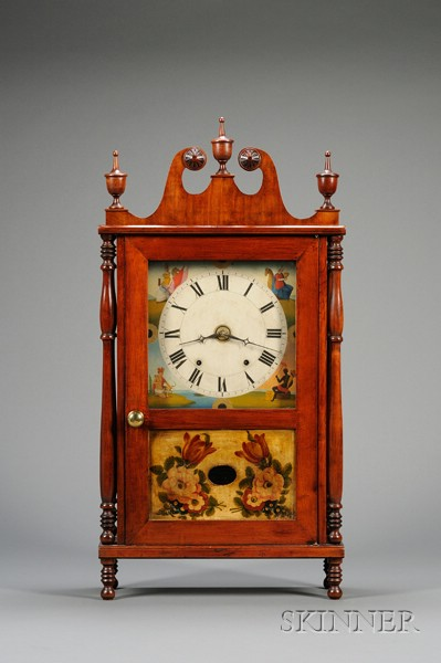 Pennsylvania Pillar and Scroll Clock, Allentown,