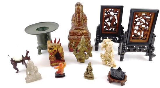 ASIAN: 19th/20th C. figurines and decorative