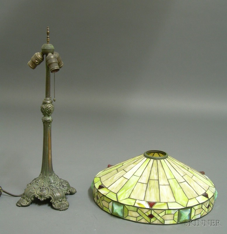 Metal Overlay Table Lamp, Probably Bradley