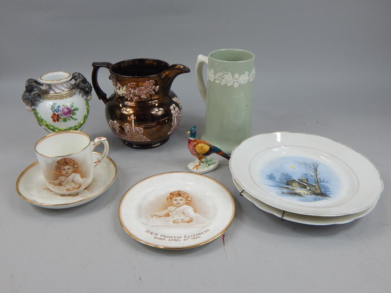 Miscellaneous ceramics, to include a Meissen